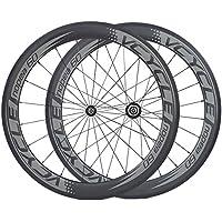 [VCYCLE nopea] ultraleggero fibra di carbonio ruote tubolare 60mm per 700c bici da strada da corsa 1395g - Valvola In Fibra Di Carbonio