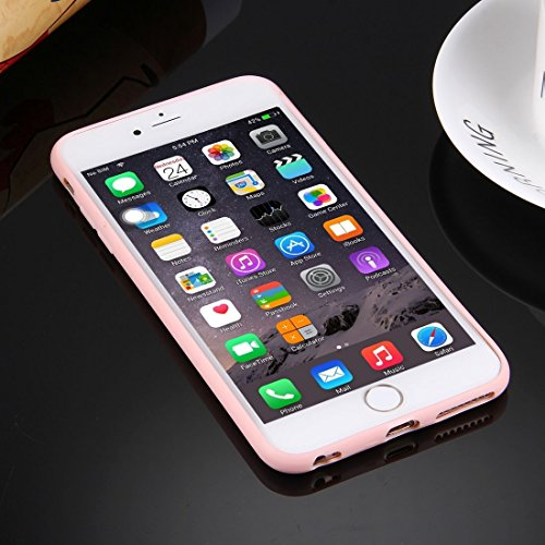 Phone case & Hülle Für iPhone 6 Plus / 6s Plus, Solid Color TPU Schutzhülle mit Rundloch ( Color : Dark blue ) Pink