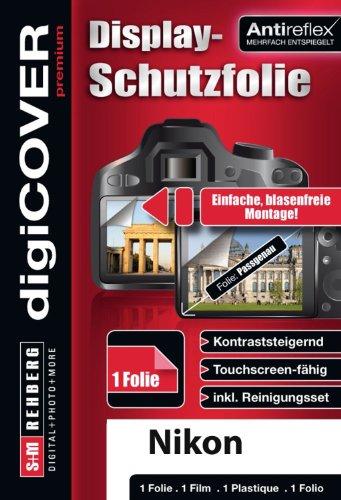 digiCOVER Premium Monitordisplayschutzfolie für Nikon Coolpix S6300 (Antireflex)