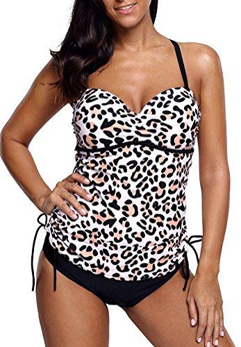 aae14c83971e Socluer Bikini da donna Tankini Set da due pezzi Summer Beach Push Up Bikini  Costumi da ...