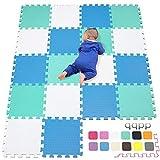 qqpp Tapis de Puzzles - Tapis de Sol Enfant et Bébé en Mousse - 18 Dalles Colorées à Imbriquer 30 x 30 cm - Idéal pour l'Éveil de l'enfant QQCDW101107108G301018