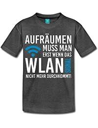 Aufräumen Muss Man Erst Wenn Das WLAN Signal Nicht Mehr Durchkommt Teenager Premium T-Shirt von Spreadshirt®