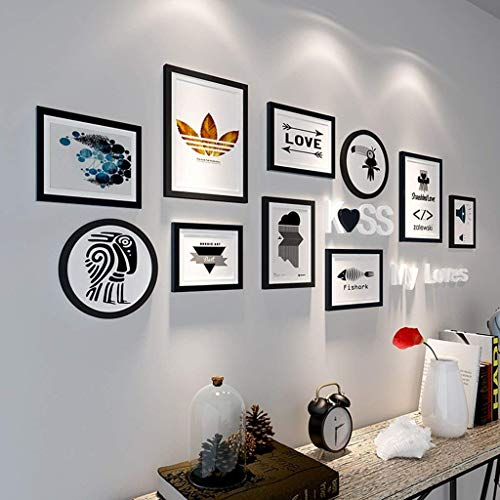 FORTR Home Dekorative Wände 10 PCS Set Home Decoration DIY Bilderrahmen-Sets für Wand Familie Bilderrahmen-Sets mit Picture Card modisches Design