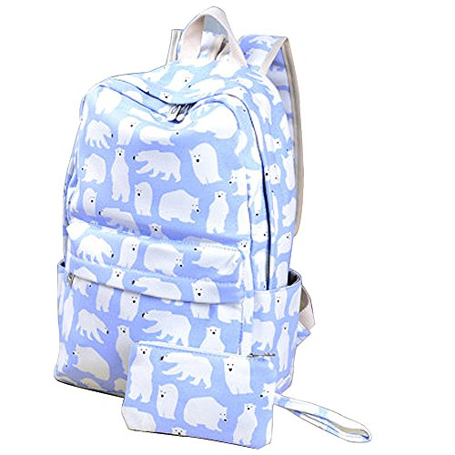 moolecole-cute-fresh-printing-simple-lotus-pond-rucksack-lightweight-canvas-bookbags-school-backpack