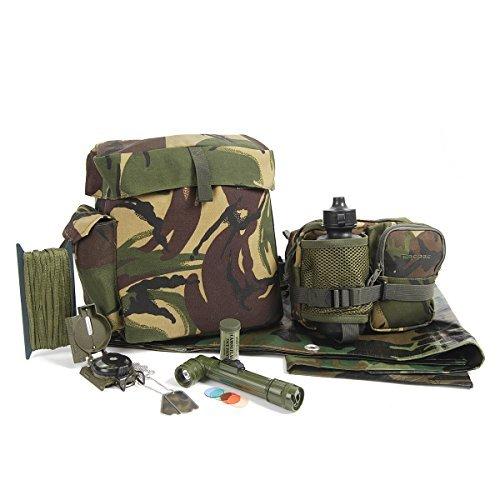 Kids Army Abenteuer-Kit für die freie Natur - Camouflage - Entdecker Kostüm Kinder