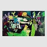 Kunstdruck Poster Bild Pablo Picasso - Peche De Nuit A Antibes 80 x 60 cm ohne Rahmen