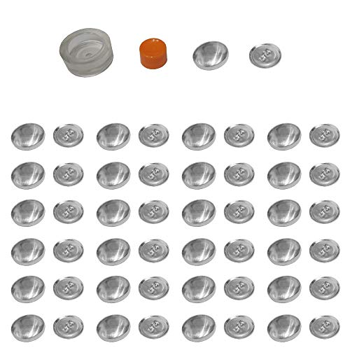 Mehrondo 25 Stück Überziehbare Knöpfe 18mm Durchmesser mit Druckverschluss