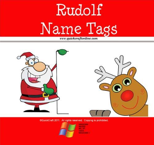 lf Name Tags (QuickCraft Christmas) (English Edition) ()