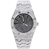 Iced Out Hip Hop Orologio Cubic Zirconia Diamonds Colore Oro Argento Gioielli Bust Down AP Watch Supreme Collana Rapper Bling