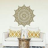 Wandaufkleber Mandala Große Goldene Mandala Vinyl Wandaufkleber Wandbild Mandala Wandkunst Applique Yoga Studio Böhmischen Stil 57 * 57 CM A7 57 * 57 CM
