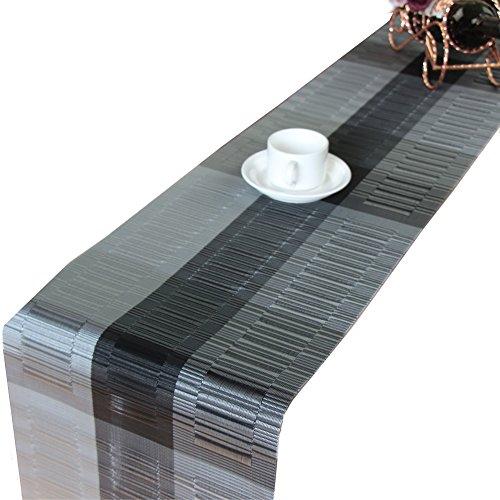 Tischläufer, Platzsets Abwaschbar Rutschfest Tischdecken, PVC Abgrifffeste Hitzebeständig Tischsets, für drinnen und draußen - für küche Restaurant, Hotel, Cafe, Terrasse, Balkon und Garten, 30x
