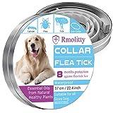 Rmolitty Collare Antipulci Cane, Impermeabile Trattamento delle pulci Naturale per Grande Medio Piccolo Cani, 8 Mesi 57cm (57cm)