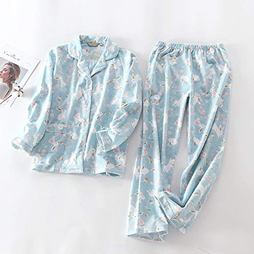 HIUGHJ Pyjamas Cute Pink Heart 100% Baumwolle Pyjama Sets Frauen schöne Lange Ärmel gebürstet Baumwolle warmes Zuhause (Cute Boy Kostüm)