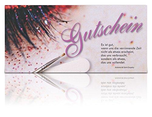 Hochwertige Gutscheinkarten im lila Look - Wimpern, Schminke - Beautystudios, Beauty-Design - Geschenkgutschein online kaufen - Stempelbar!