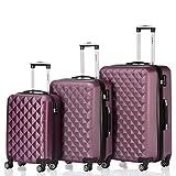 BEIBYE Kofferset 4 Zwillingsrollen Hartschale Trolley Koffer Reisekoffer Reisekofferset Gepäckset