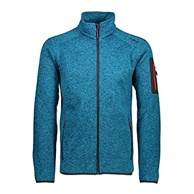 CMP Herren Strick Fleece Jacke, Black Blue-Smoked von CMP auf Outdoor Shop