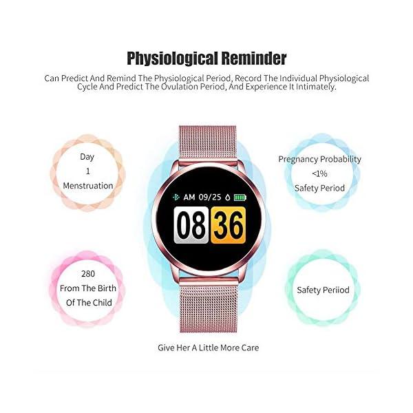 Naack Reloj Inteligente Pulsera Monitor de frecuencia cardíaca smartwatch Monitor De Ritmo Cardíaco Mujeres Hombres… 11