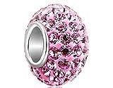 PRIMI 1Kristall Charms für Pandora Armband (Pink)