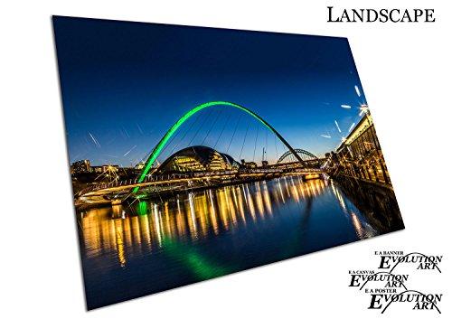Poster Kunstdruck Millennium Bridge Tyneside Newcastle Gateshead Quayside - a2