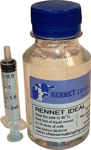 Mikrobielles flüssiges Lab, ideales Gerinnungsmittel, 100ml | fügen Sie 2ml pro 10 l Milch hinzu -