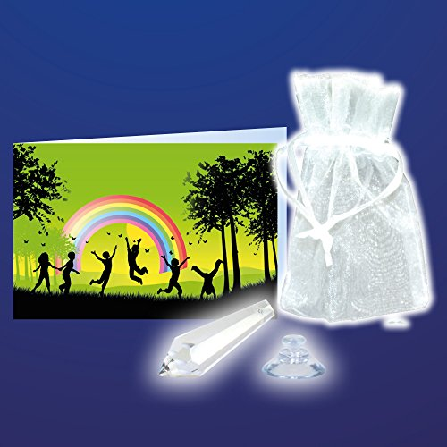 Regenbogentropfen mit Geschichte 12er Set, als Sonnenfänger Kristall und besonderes Geschenk für Kinder, Hochzeitsgeschenk, Ostern