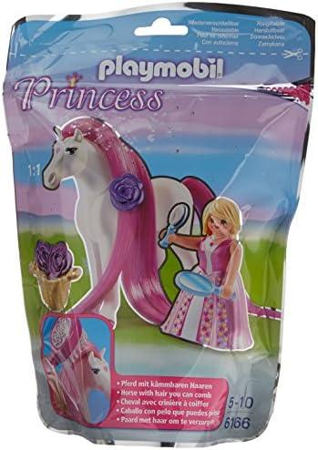 Playmobil - 6166 - Princesse Rose Rose Rose avec cheval  coiffer | Excellent (dans) La Qualité  179de5