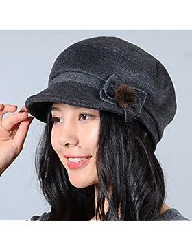 Primavera e autunno visiera sottile Hat tutti-match old hat bacino tappo,56-58 per circonferenza testa,grigio...