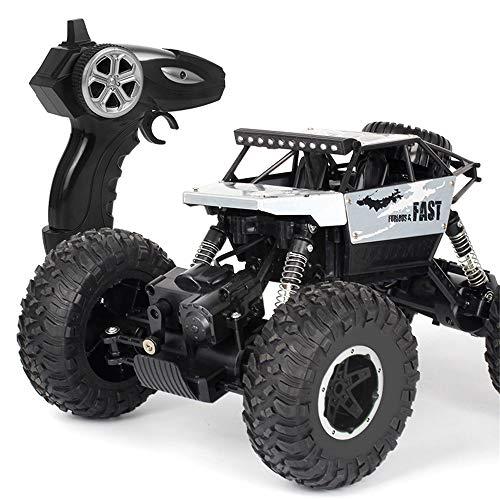 Jamicy® Ferngesteuertes Auto RC Auto Off Road High Speed 4WD, Alles Gelände 1/18 15km/h Ferngesteuerter Auto für Kinder Draußen (Silber)