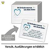 cute-head DIY Adventskalender Set zum Basteln   24 Gründe Warum ich Dich Liebe   Herz   24 Karten zum Beschriften   74 x 105 mm   Blau   AKset-24G-nK-01-B