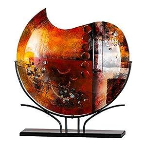 GILDE GLAS art Design-Vase - Dekoobjekt handgefertigt aus Glas H 49 cm