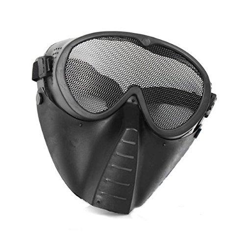 SHARPTECK Masque Tactique Réglable Protection de Visage Yeux Nez Maille en  Acier pour Airsoft Paintball BB 750873d6c5c4