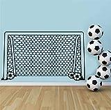 Mrhxly Fußball Fußball Tor Net Ball Sport Wandtattoo Vinyl Dekor Kunst Wandaufkleber Für Jungen Zimmer Kinder KindergartenWohnkulturwandbild100 * 58 Cm