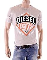 Diesel - T-Shirt homme Teams gris coupe droite