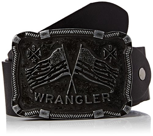 Wrangler - CTF Western Buckle B, Cintura Uomo, Nero (Black), 115 cm (115)