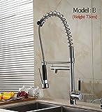 5151BUYWORLD top quality rubinetto all' ingrosso Pull Out Up & Down spruzzatore in ottone cromato acqua lavello con rubinetto miscelatore per bagno o cucina girevole Home Gaden, grigio chiaro