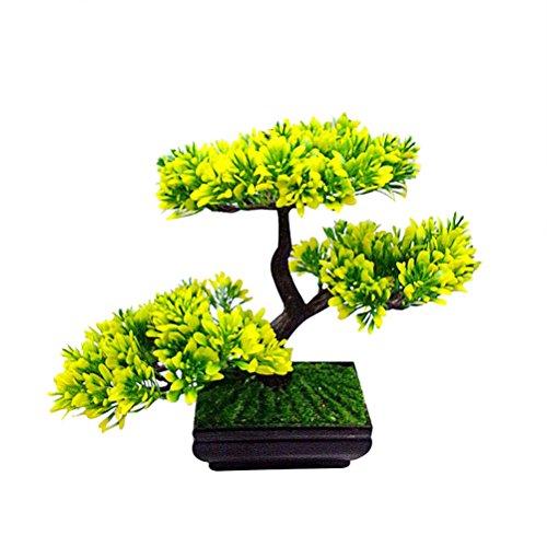 VORCOOL Künstliche Kiefer Bonsai, Kunstpflanz Bonsaibaum Deko Pinien mit Schale für Haus Büro Tischdeko