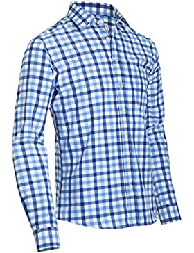 Almsach Herren Slim Fit Trachten Hemd LF191-s ice/jeans