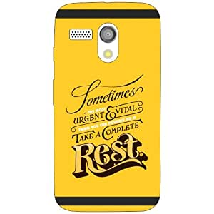 Moto G rest Phone Cover - Matte Finish Phone Cover