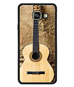 Printvisa Designer Back Case Cover for Samsung Galaxy A3 (6) 2016 :: Samsung Galaxy A3 2016 Duos :: Samsung Galaxy A3 2016 A310F A310M A310Y :: Samsung Galaxy A3 A310 2016 Edition (Strings Musical Notes Violin Hard Rock)
