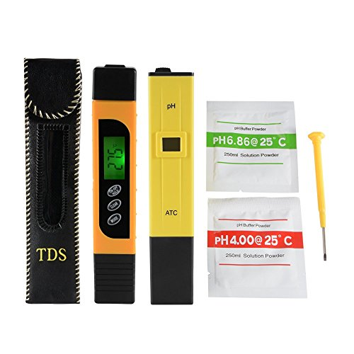 XCSOURCE 3in1 TDS + EC + Temp Meter y Medidor de Ph con ATC, Precisión digital Monitor de calidad del agua Pen Style Portable Tester BI717