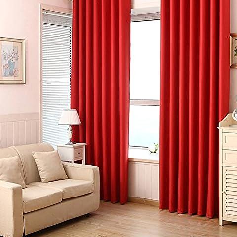 2panneaux Couleur unie Polyester Isolation thermique Rideaux occultants pour chambre à coucher, tige de poche, 99,1x 213,4cm/panneau