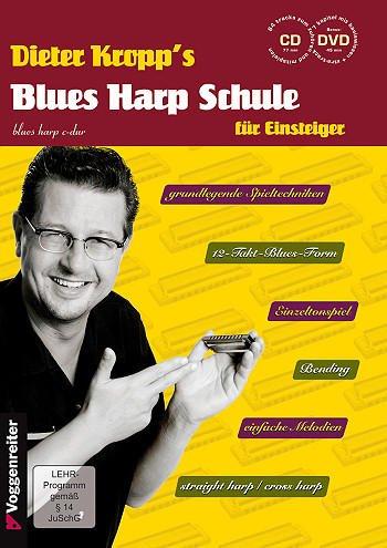 Kropp's Blues Harp Schule inkl. CD und Bonus-DVD: die ultimative Anfängerbuch für Mundharmonika [Musiknoten] Dieter, Kropp