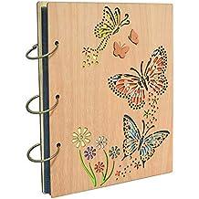 Umi. Essentials album fotografico, design farfalle, con tasche 13 x 18, capacità 120 foto