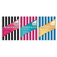 Easynote A4, Qualità Premium, 250pagine, a righe tasca Divisori mobili, fogli, 80gsm-tallon6315