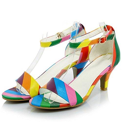 Multicolore Di Jojonunu Conforto Donne Tacco Sandali Gattino Fwq14