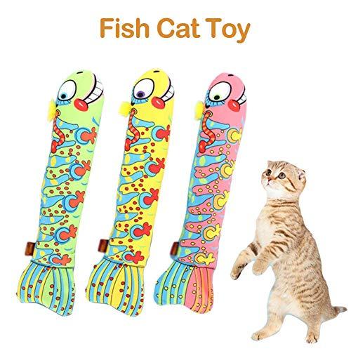 Juguetes Gatos Cuerpo Largo Forma pez Juguete Gatos
