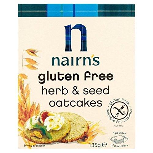 Nairn's Senza Glutine Erba Oatcakes 135g (Confezione