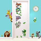 Stickerkoenig Wandsticker XXL Wandtattoo Tiere Kinder Löwe Giraffe Zebra Deko Kinderzimmer für Tür Schränke Wände schaut super toll aus