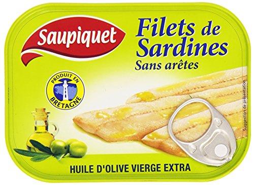 Saupiquet de Sardines À L'Huile D'Olive la Boîte 100 g - Lot de 5