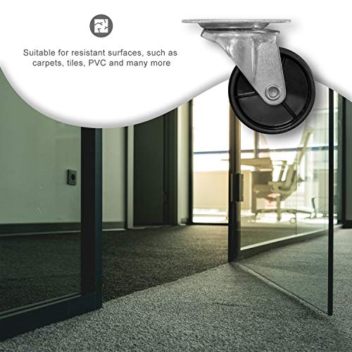 51foHPirTrL - Nirox 8x Ruedas para muebles 50mm - Ruedas giratorias giro de 360 grados - Ruedas de transporte altura total de 60mm - Ruedas pivotantes hasta 120kg